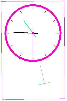 پروژه گرافیک کامپیوتری OpenGL ساعت پاندولی