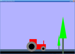 حرکت تراکتور - پروژه ساده آماده opengl